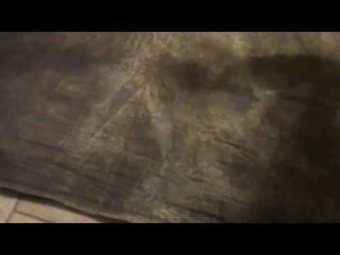 Making a Canvas Shelter Tarp from a Painters Drop Cloth Pt2 of 3.