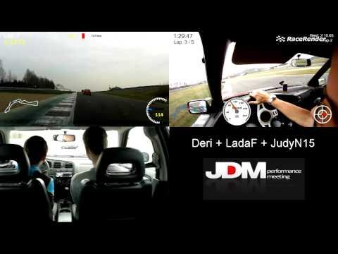 Autodrom Most 22.3.2014 JDM Mazda6 vs LegacyTurbo vs PrimeraGT