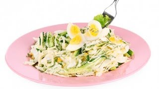 Весенний салат из яиц и огурцов
