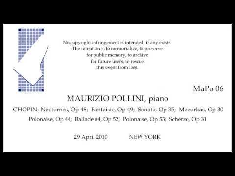 MAURIZIO POLLINI    Live CHOPIN Recital 2010   NEW YORK
