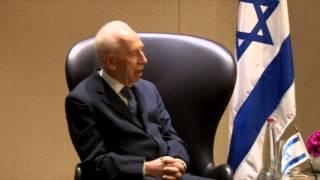 Ninth President Shimon Peres met with President of the Republic of India  Mr. Pranab Mukherjee