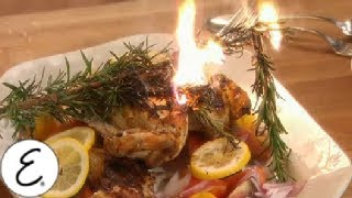 Tuscan Style Chicken Cooked Under a Brick - Emeril Lagasse