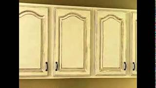 How To Antique White Kitchen Cabinets