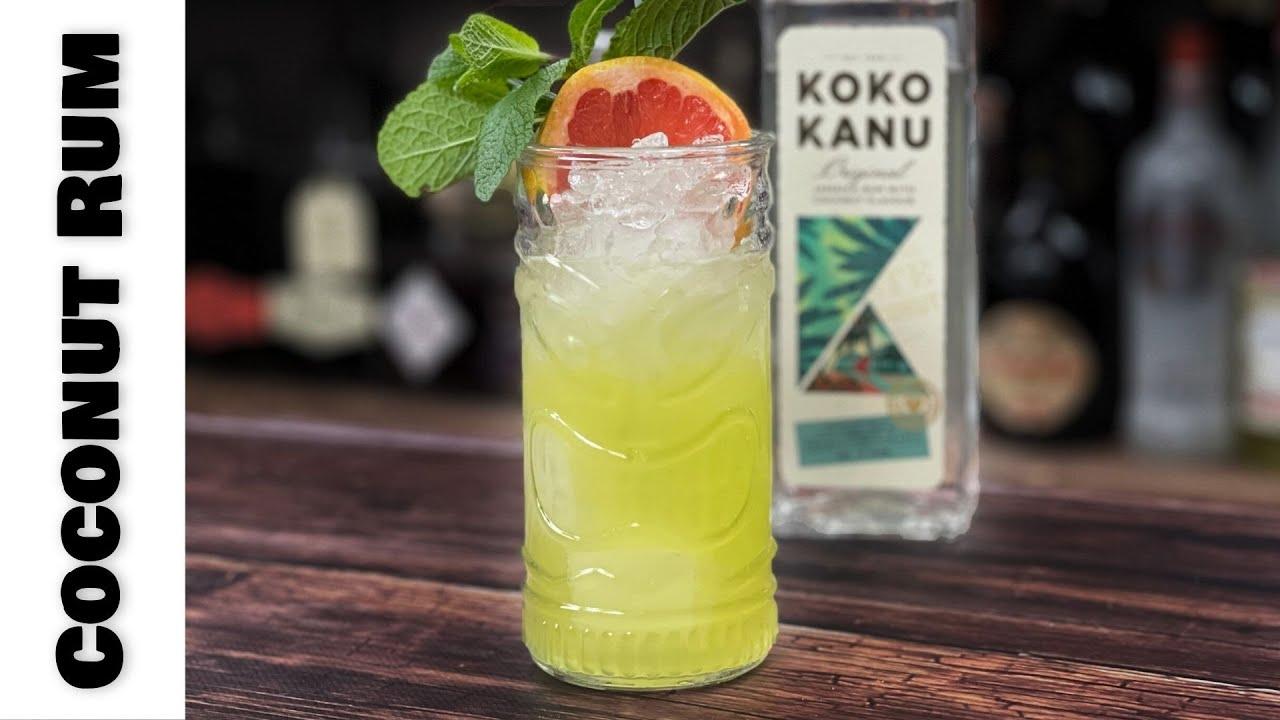 Easy Coconut Rum Cocktails - FUN Coconut & Melon Paloma