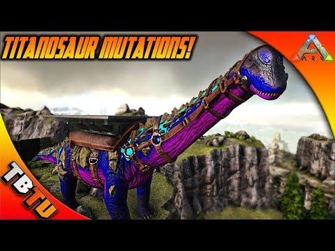 EPIC TITANOSAUR MUTATIONS WITH SYNTAC! ARK TITANOSAUR BREEDING MOD! Ark Survival Breeding Evolved