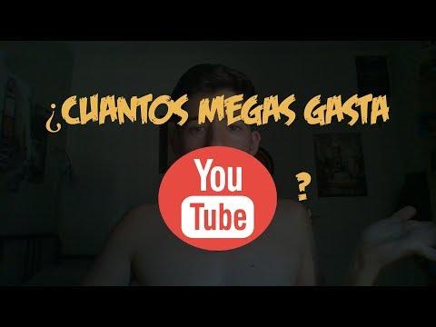 CUANTOS MEGAS/DATOS GASTA YOUTUBE CADA 1MIN/5/10