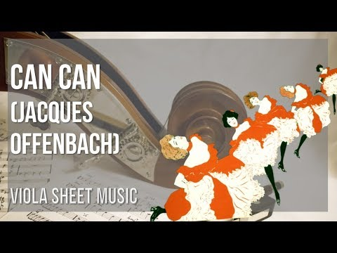 EASY Viola Sheet Music: How to play Can Can by Jacques Offenbach