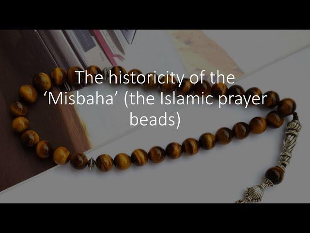 PRAYER BEADS: These beads ('Misbaha') were Christian