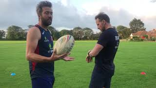 Touch Rugby Basic Skills and Drills- Warm up- 5 x5 Grid