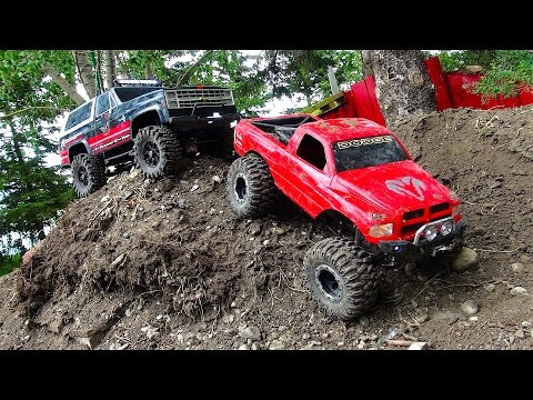 RC ADVENTURES - BACKYARD SCALE TRACK 4x4 ACTiON! DODGE & CHE