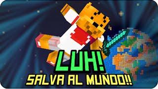 luh salva al mundo   minecraft mapa del suscriptor
