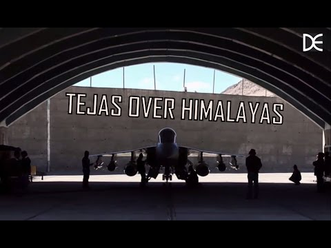 HAL Tejas (LCA) Over Himalayas AMAZING SCENERY