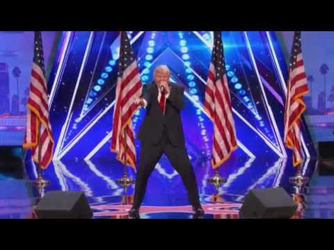 The Singing Trump: Presidential Impersonator Channels Playboi Carti - America's Got Talent 2017