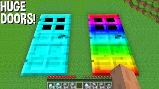 WHAT is BEHIND this HUGE DIAMOND DOOR and HUGE RAINBOW DOOR in Minecraft ? SUPER DOOR !