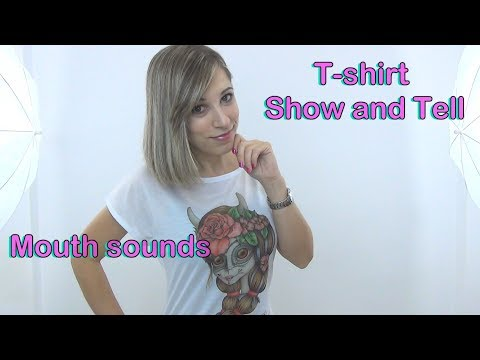 ASMR en Español  . Catrina T-shirt . Show and Tell  . Unboxing .Inaudibles . Video muy relajante