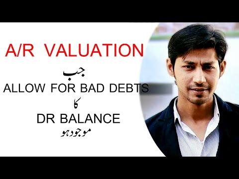 Accounts Receivable valuation | Debit Balance of Allowance for Bad Debts | Accounting in urdu