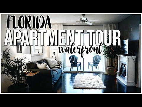 WATERFRONT FLORIDA APARTMENT TOUR  Cozy Farmhouse Apartment Tour  Renee Amberg