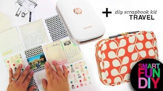 DIY Travel Scrapbooking Kit - HP Sprocket portable mini printer - print photos + scrapbook anywhere