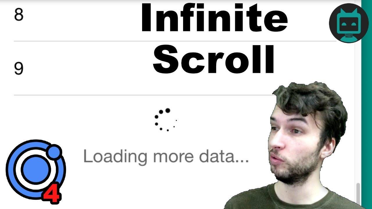 Ionic 4 Infinite Scroll Tutorial