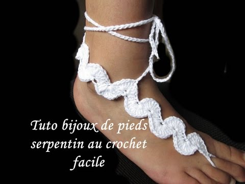 tuto crochet bijoux de pieds serpentin au crochet facile pattern snake barefoot youtube. Black Bedroom Furniture Sets. Home Design Ideas