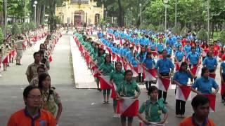 Múa cờ Semaphore - Chào mừng Đại hội Hội LHTN TP.HCM lần VII