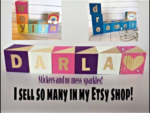 DIY Personalized Baby Blocks!