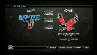 NCAA Football 10 FCS Semifinal Game Maine Black vs Eastern Washington