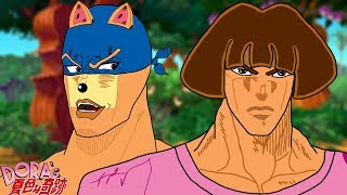 Dora's Bizarre Adventure: Stardust Explorers- Dora Vs SWIPER [JJBA Part 3 Parody]