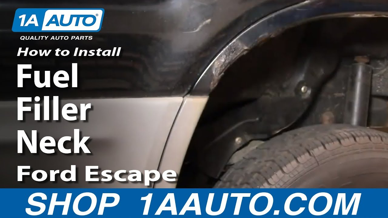 How To Install Replace Fuel Filler Neck Ford Escape 02 03 1aautocom 2010 V6 Filter Location