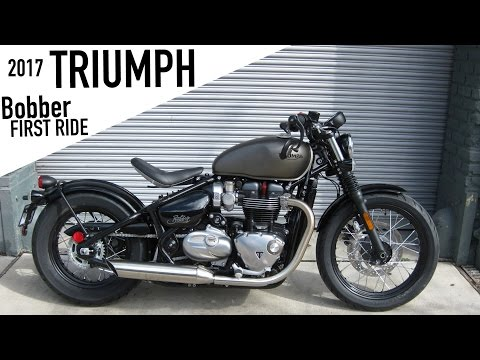 2017 Triumph Bobber - First Ride