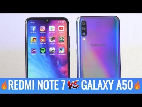 Samsung Galaxy A50 vs Redmi Note 7 Speed Test - Lo mejor de 2019 en la gama media🔥