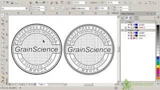 Круглая печать. CorelDraw. Часть 1. Как нарисовать печать. Обучение. Уроки. Быстро и легко