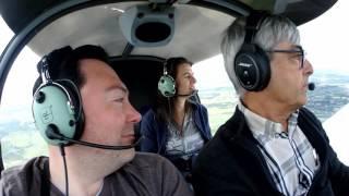 Baptême de l'air en avion léger à aéro-club de Péronne le 05/06/17