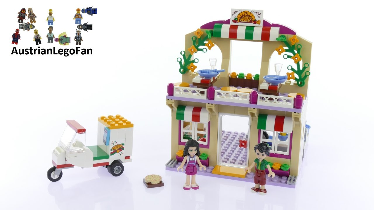 Lego Friends 41311 Heartlake Pizzeria Lego Speed Build Review