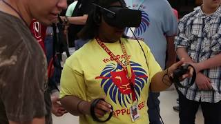 Special needs students experience virtual reality