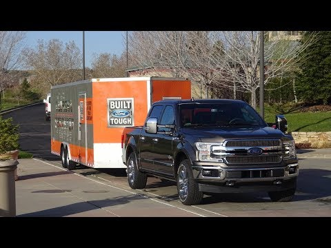 2018 Ford F150 diesel part two, first drive towing and engineer interviews