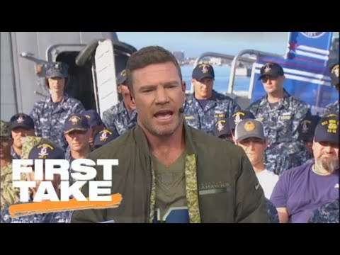 Nate Boyer on suggesting Colin Kaepernick kneel instead of sit during anthem  First Take  ESPN
