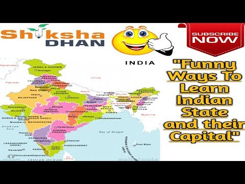 Short Trick and Funny Way to Learn Indian State and Their Capital |paramount concept