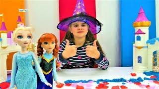 Эльза украшает замок - Принцессы Диснея. Идеи для кукол - Мультики для девочек
