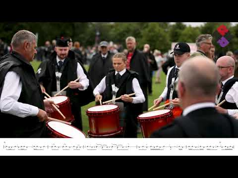 Boghall & Bathgate Pipe Band Drum Corps 2018 World Pipe Band Championships, Medley Jigs