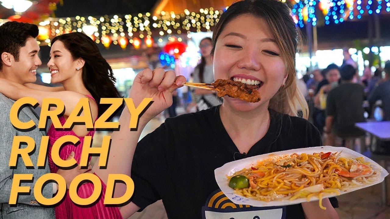 Singapore Street Food Tour - CRAZY RICH ASIANS Style! - YouTube