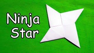 How to make a Paṗer Ninja Star (Shuriken) - Easy Origami