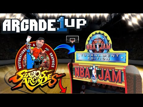 Arcade1Up NBA Jam Topper & Control Panel Filler by Szabos Arcades! from PDubs Arcade Loft