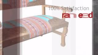 Spanish Heritage Bench With Inka Fabric - Lonestarwesterndecor.com