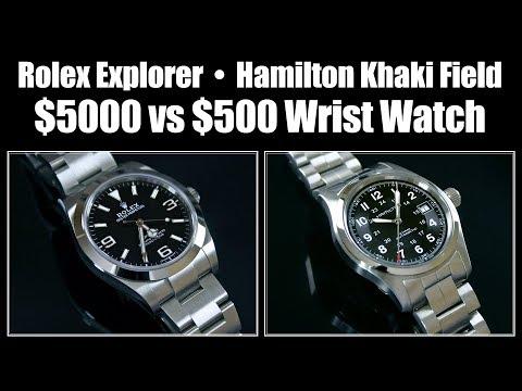 Rolex Explorer Vs Hamilton Khaki Field - $500 Vs $5000 Wristwatch Review