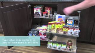 Medallion Cabinetry: Base Blind Corner With Full-access Tray, Kitchen Storage Part 19