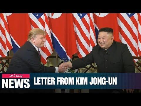 "Trump touts ""beautiful letter"" from N. Korean leader Kim Jong-un"
