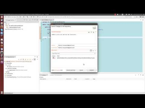 Git tutorial 2: Committing, pushing, pulling and resolving conflicts with git and Eclipse 4.5.1