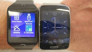 Samsung Gear S comparison with Gear 2 Neo - apps, screen, size, straps