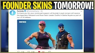 *NEW* Fortnite: FOUNDER SKINS COMING TOMORROW! *Rose Team Leader, Warpaint Skins* | (v5.10 Update)